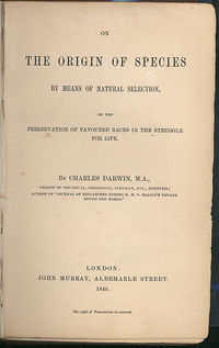 The Origin of Species by means of Natural Selection, 6th Edition