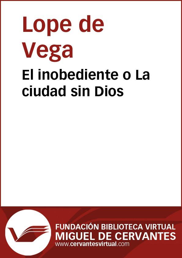 El inobediente o La ciudad sin Dios - cover