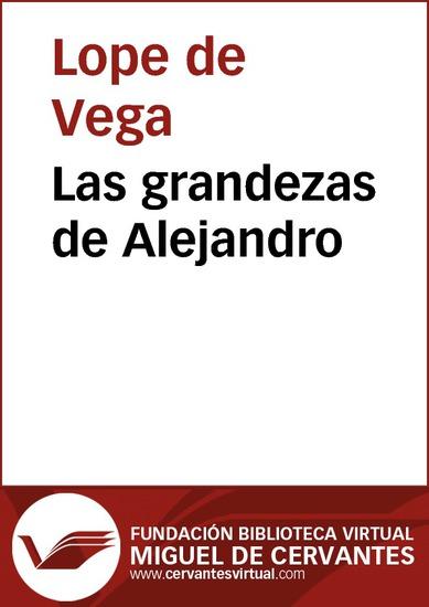 Las grandezas de Alejandro - cover