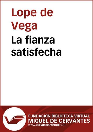 La fianza satisfecha - cover