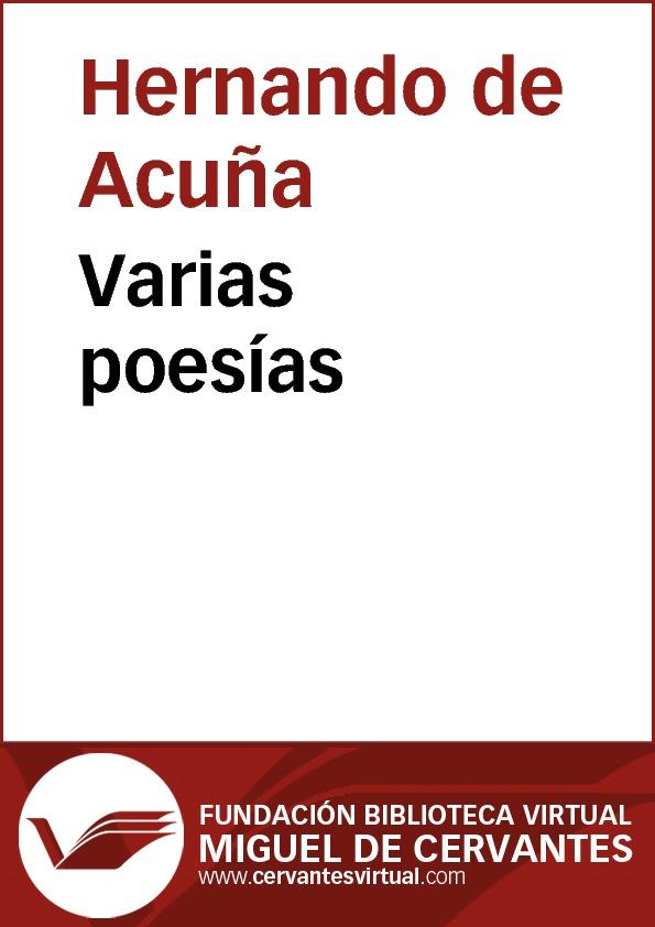 Varias poesías - cover