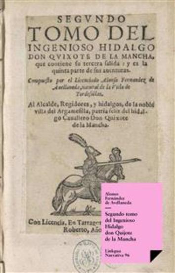 Segundo tomo del Ingenioso Hidalgo don Quijote de la Mancha - cover
