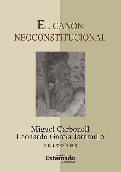 El canon neoconstitucional - cover
