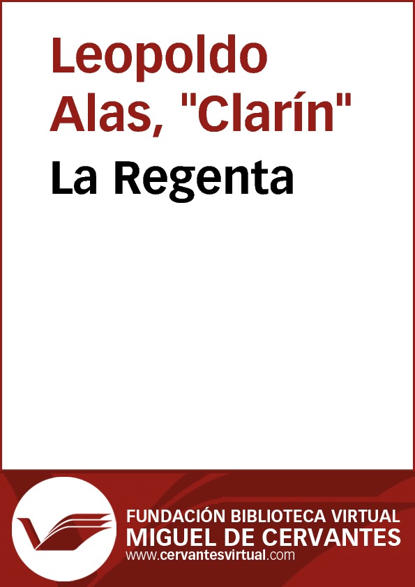 La Regenta - cover