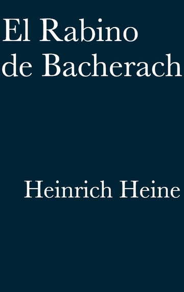 El Rabino de Bacherach - cover