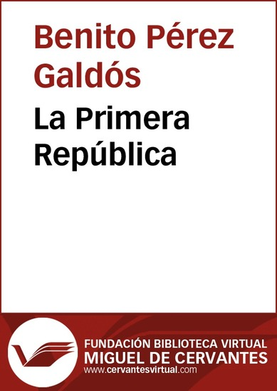 La Primera República - cover