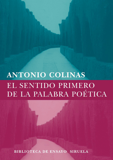 El sentido primero de la palabra poética - cover