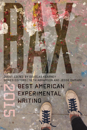 BAX 2015 - Best American Experimental Writing - cover