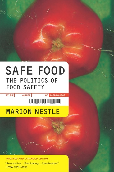 Safe Food - The Politics of Food Safety - cover