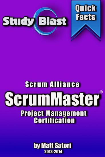 Study Blast CSM ScrumMaster Study Guide - Study Blast - cover