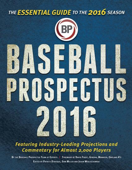 Baseball Prospectus 2016 - cover