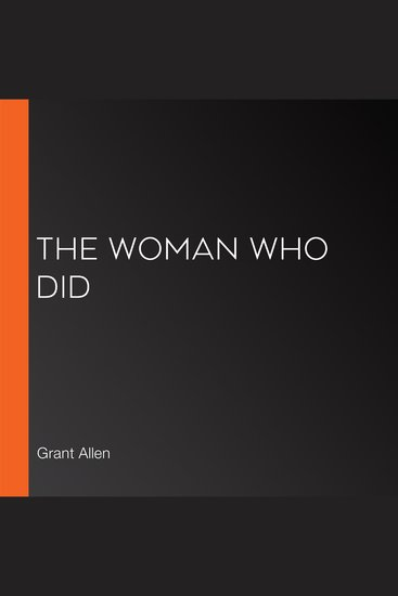 The Woman Who Did - cover