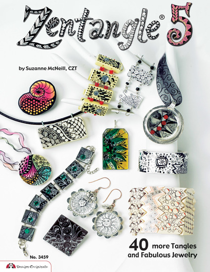 Zentangle 5 - 40 more Tangles and Fabulous Jewelry (sequel to Zentangle Basics 2 3 and 4) - cover
