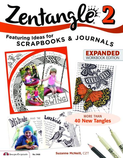 Zentangle 2 - Scrapbooks Sketchbooks Journals AJCs Cards Words Borders - cover