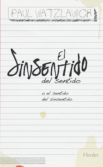 El sinsentido del sentido - o el sentido del sinsentido - cover