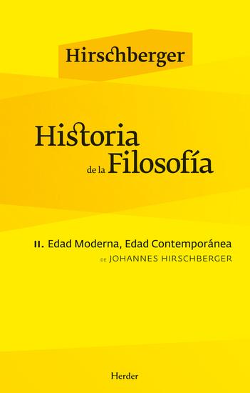 Historia de la filosofía II - Edad Moderna Edad Contemporánea - cover