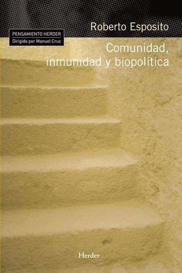 Comunidad inmunidad y biopolítica - cover