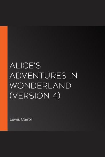 Alice's Adventures in Wonderland (version 4) - cover