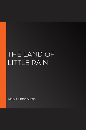 The Land of Little Rain - cover