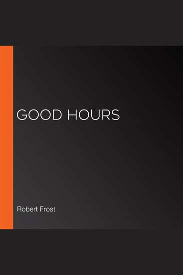 Good Hours - cover