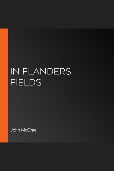 In Flanders Fields - cover