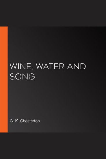 Wine Water and Song - cover