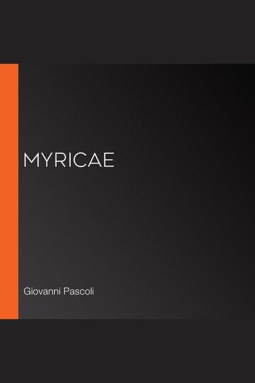Myricae - cover