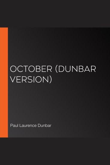 October (Dunbar version) - cover