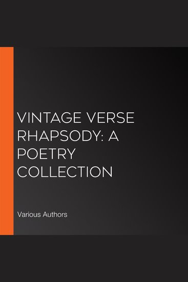 Vintage Verse Rhapsody: A Poetry Collection - cover