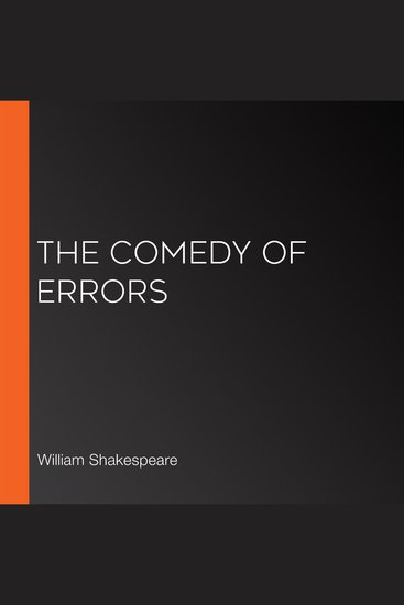 The Comedy of Errors - cover