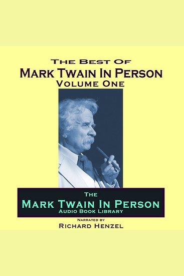 Mark Twain In Person Vol 1 - cover