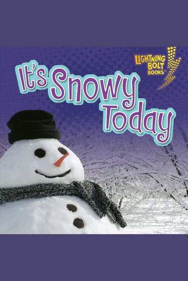 It's Snowy Today - cover
