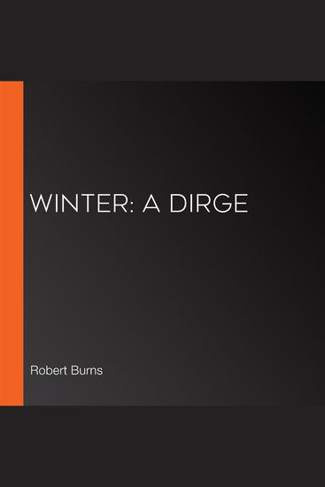 Winter: A Dirge - cover