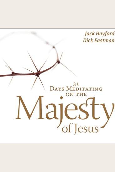 31 Days Meditating on the Majesty of Jesus - cover
