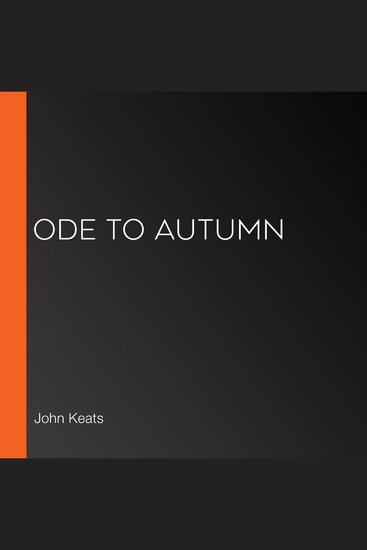 Ode to Autumn - cover