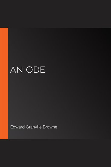 Ode An - cover
