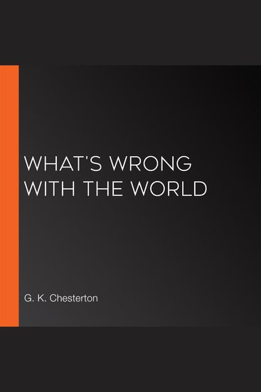 What's Wrong With the World - cover