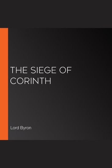 The Siege of Corinth - cover