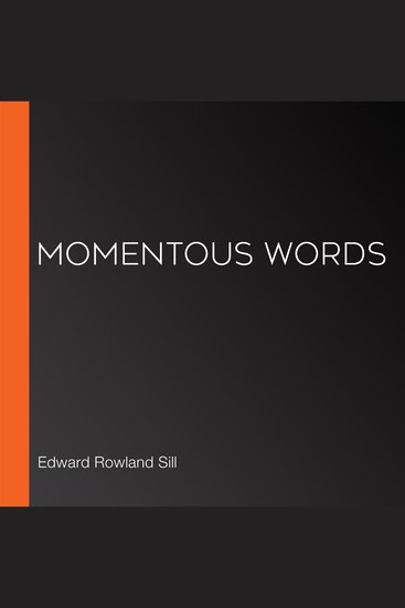 Momentous Words - cover