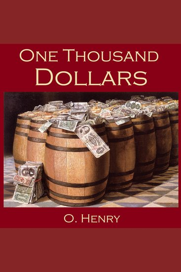 One Thousand Dollars - cover