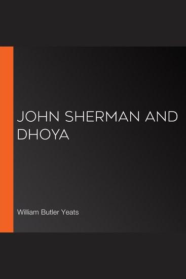 John Sherman and Dhoya - cover
