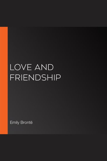 Love and Friendship - cover