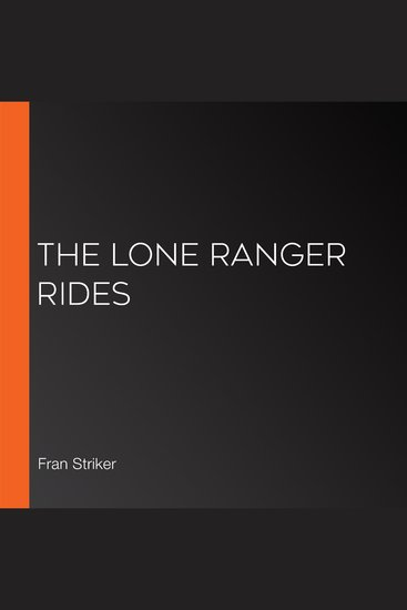 The Lone Ranger Rides - cover