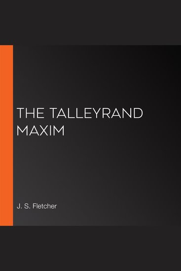 The Talleyrand Maxim - cover