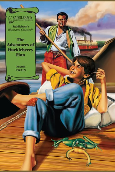 Adventures of Huckleberry Finn The (A Graphic Novel Audio) - Illustrated Classics - cover