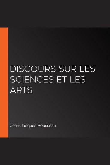 Discours sur les sciences et les arts - cover