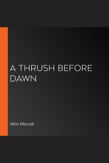 A Thrush Before Dawn - cover
