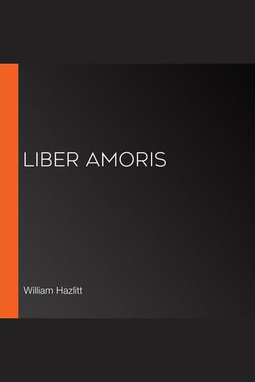 Liber Amoris - cover