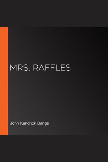 Mrs Raffles - cover