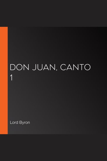 Don Juan Canto 1 - cover